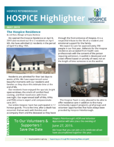May 2019 Hospice Highlighters